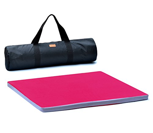 Cheap Meditation Cushion – Zabuton Meditation Mat Made of 100% Natural Latex Rubber Foam Affording Exceptional Support for Your Legs and Knees (Extra Large – Red