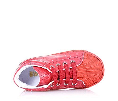 020da405ff37 FALCOTTO Roter Schuh mit Schnürsenkel aus Leder, ideal zum Krabbeln ...