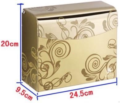 Acero inoxidable soporte de papel higiénico a mano cartón de estampado a cuadros de cartones para