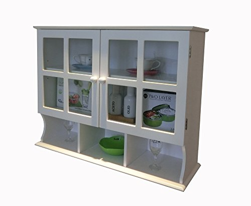 Homecharm wall cabinet white hc 032 for Kitchen cabinets jeddah