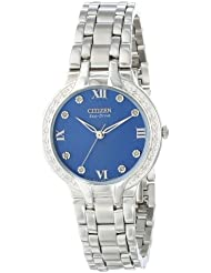 Citizen Eco-Drive Womens EM0120-58L Bella Silver-Tone Watch