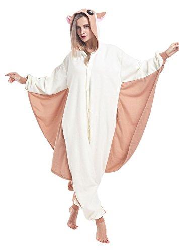 Fudeersiu Halloween Animal Sleepwear Unisex Pyjamas For Adult Rat Cosplay Costume