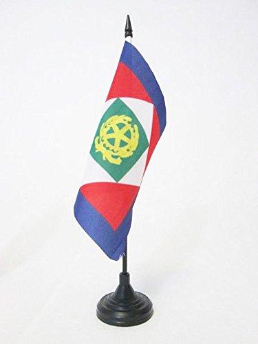 BANDIERA DA TAVOLO PRESIDENTE DELLA REPUBBLICA ITALIANA 15x15cm - PICCOLA BANDIERINA STENDARDO ITALIA 15 x 15 cm - AZ FLAG