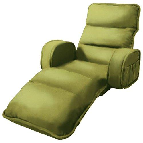 収納簡単低反発もこもこ座椅子 ひじ付きタイプ グリーン 生活用品 インテリア 雑貨 インテリア 家具 座椅子 top1-ds-1938044-ah [簡素パッケージ品] B075NC365P