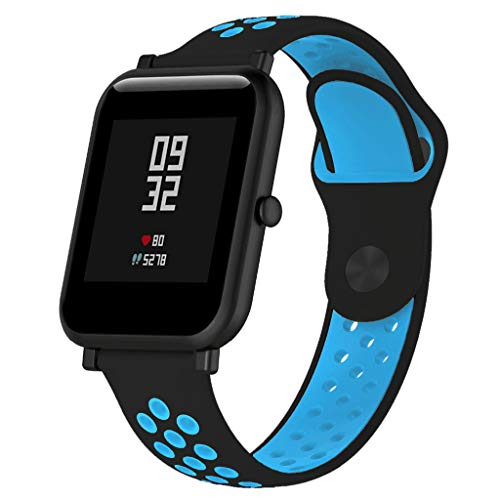 Sodoop Compatible for Huami Amazfit Bip Youth Lite Watch Band 5.0-8.0inch, Sport Soft Silicone Breathable Replacement Wristband Bracelet Strap for Amazfit Bip Youth Lite ()