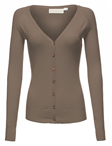 Slim Fit Long Sleeve Classic Button Front V-Neck Cardigans