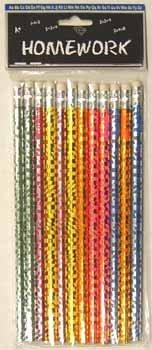 Foil Pencils - assorted designs - 12 count 48 pcs sku# 92904MA by DDI