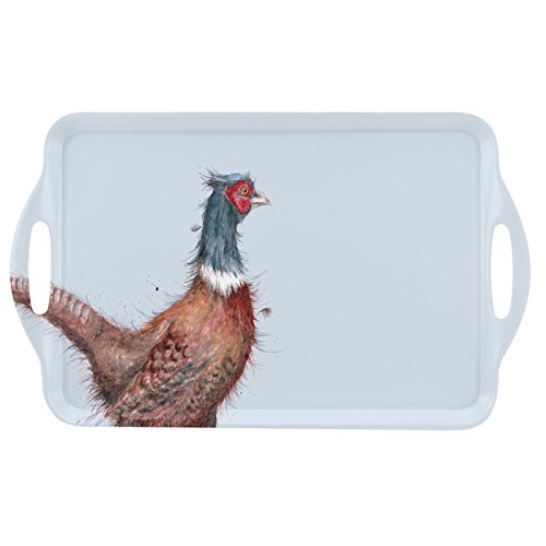 - Wrendale Large Handled Tray (Pheasant), Melamine, Multi Coloured, 20 x 29.5 x 48 cm