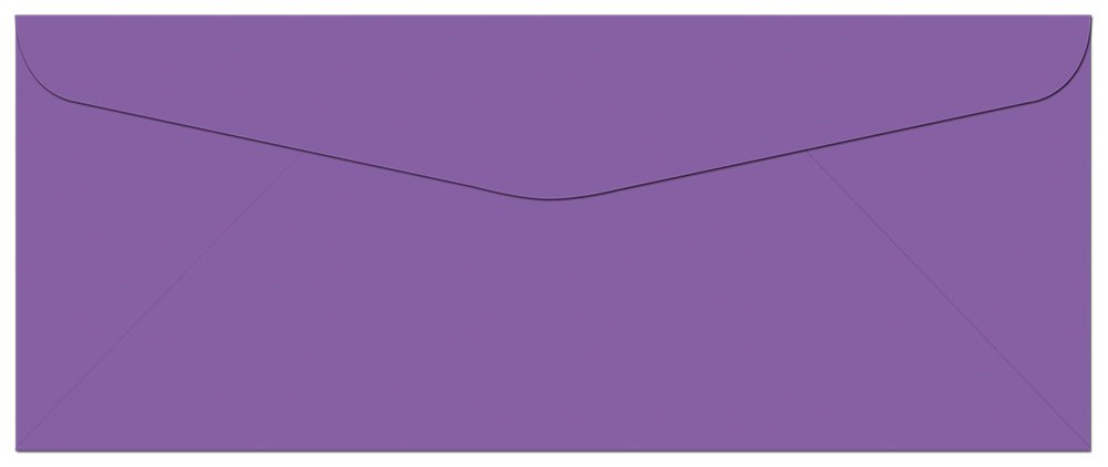 100 Lilac Purple #10 Envelopes - 9.5 x 4.125 - Standard Flap Note Card Cafe NCEVC0-001A100