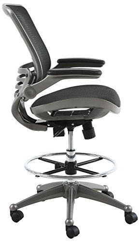 Harwick Evolve All Mesh Heavy Duty Drafting Chair, Gunmetal Finish