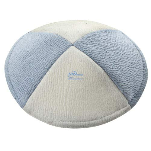 SNSArts & Judaica Beautiful Suede Ultra Flat Kippah 15cm- with Pin Spot, Min Qty Order 6 - The Price is for 6 pcs