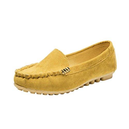 Sommer Stoff Outdoor Flach Elegant Gelb Geschlossen Sommerschuhe Ansenesna Schuhe Comfort Damen Mädchen Elastisch Sandalen RwEnnqXP