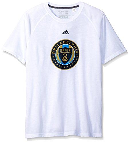 MLS Philadelphia Union Women's Phase Hat Hook Ultimate Short Sleeve V Tee, Medium, White – DiZiSports Store