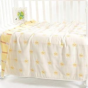 Hayisugar Muslin Baby Blankets 6 Layers 100% Cotton Muslin Swaddle Blanket Soft Infant Large Muslin Cloths Baby Swaddle…