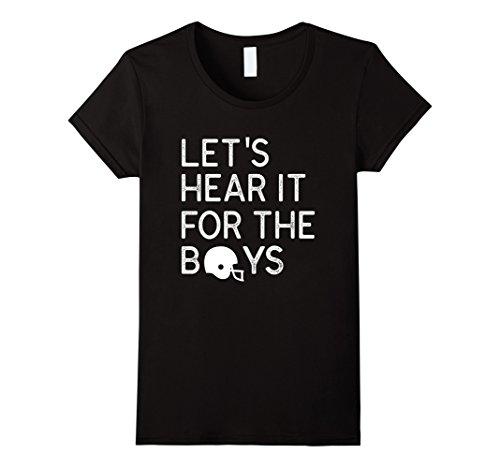 Womens Lets Hear It For The Boys  Football T Shirt Xl Black