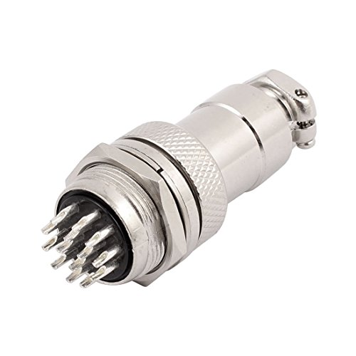 uxcell GX20-14 AC 250V 5A 14P 20mm Thread Metal Panel Male Aviation Connector Adapter ()