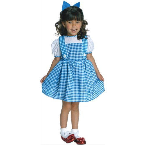Girls Wizard Costumes (Wizard of Oz Dorothy Costume, Sky Blue / White, Toddler (Sizes 2-4 / Ages 1-2))