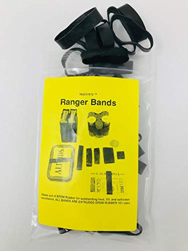 Ranger Bands Mixed 35 Count Extra Stretch Made from EPDM Rubber for Survival and Strapping Gear Made in the USA NGE61972