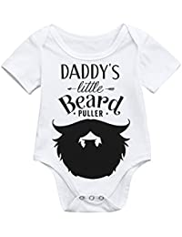 9103fb6cb9 ... Sleepwear   Robes   Blanket Sleepers   12-18 mo. Sameno Cute Newborn Kids  Baby Boys Girls Letter Beard Print Outfits Romper Jumpsuit Clothes
