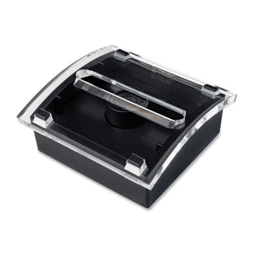 Wholesale CASE of 15 - 3M Post-It Pop-Up Design Series Note Dispenser-Designer Pop-Up Note Dispenser, 3''x3'', 50Sht/PD,Black/Clear