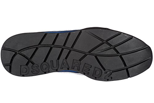 Dsquared2 Scarpe Da Uomo Scarpe Da Uomo In Pelle Sneakers 551 Blu Eu 42 Snm040411700440m699