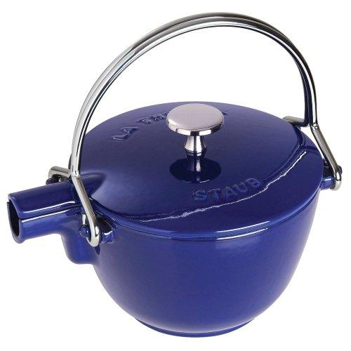 1 Quart Tea Kettle (Staub Round Teapot - Kettle, Dark Blue, 1 qt. - Dark Blue)