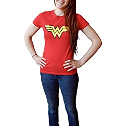 Wonder Woman Logo Juniors Red T-shirt S
