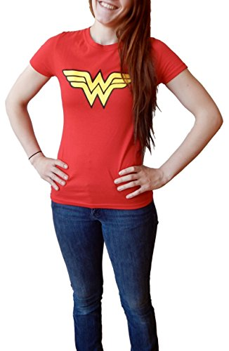 Wonder+Woman+Shirts Products : Wonder Woman Symbol Juniors T-shirt