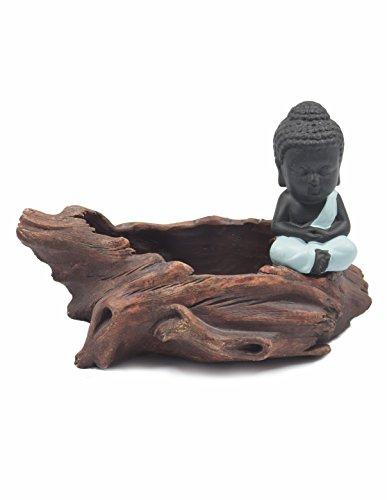 Dahlia Monk Handmade Concrete Driftwood Succulent Planter/Plant Pot/Flower Pot/Bonsai Pot, 1