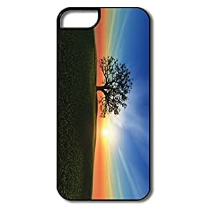 IPhone 5/5S Cover, Sunset Hill Cases For IPhone 5/5S - White/black Hard Plastic