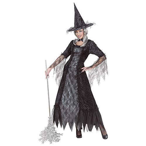 Ladies Spiderweb Witch Costume Medium Uk 10-12 For Halloween Fancy -
