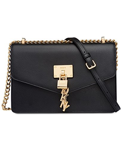 (DKNY Elissa Medium Chain Strap Shoulder Bag (Black))