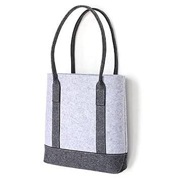 Amazon.com: Lucky Sign Eco-friendly Felt Tote HandBag Grey ...