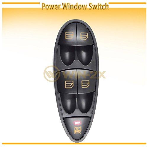 WIN-2X New 1pc Black Housing & Trim Power Window Master Control Switch Interior Front Driver Left Side Fit Mercedes-Benz 06-11 W219 CLS-Class 03-09 W211 E-Class Sedan 04-09 Wagon