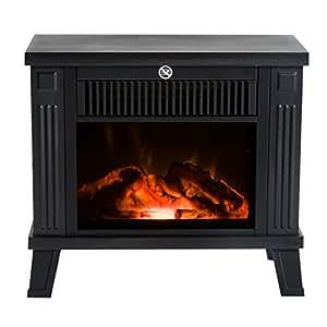Homcom chimenea el ctrica calefactor tipo estufa de pie - Chimeneas electricas opiniones ...