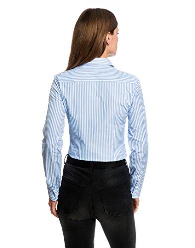 EMBRÆR - Camisas - cuello congregado - para mujer Weiß/Hellblau