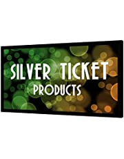 """STR-169120 Silver Ticket 120"""" Diagonal 16:9 4K Ultra HD Ready HDTV (6 Piece Fixed Frame) Projector Screen White Material"""