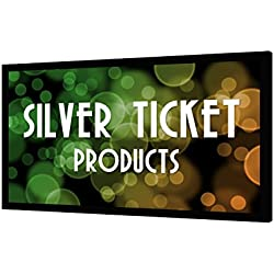 "STR-169100 Silver Ticket 100"" Diagonal 16:9 4K Ultra HD Ready HDTV (6 Piece Fixed Frame) Projector Screen White Material"