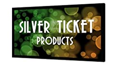 The Silver Ticket Products Fixed Frame projection screen offers powerful performance for the price. This screen features real projection screen material, not a sheet. The material is a white stretchy, high-quality vinyl at 1.1 gain that is de...