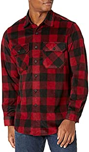 Wrangler Men's Authentics Long-Sleeve Plaid Fleece S