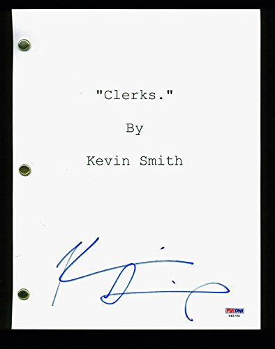 Kevin Smith Signed Clerks Script Autographed #Y45790 PSA/DNA Certified