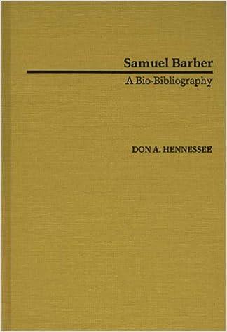 Samuel Barber: A Bio-Bibliography (Bio-Bibliographies in