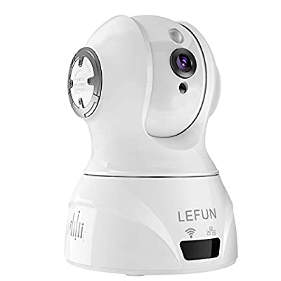 LeFun Wireless Camera, 1080P WiFi Security IP Camera Nanny Cam with Motion Detection Two Way Audio Pan &Tilt and Night Vision for Baby Video Monitor Home