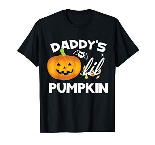 Daddy's Lil Pumpkin Cute Halloween Apparel T Shirt