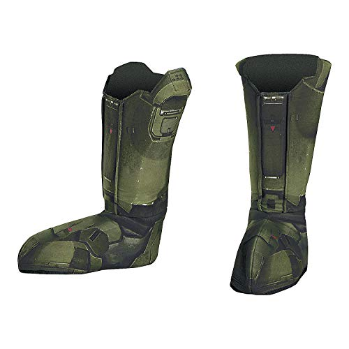 Fun Express - Master Chief Boot Covers Adult for Halloween - Apparel Accessories - Costume Accessories - Costume Props - Halloween - 1 -