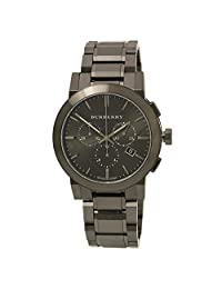 SALE! Authentic Swiss Burberry LUXURY Chronograph Watch Men Unisex The City Ion-Plated Gunmetal Date Dial BU9354