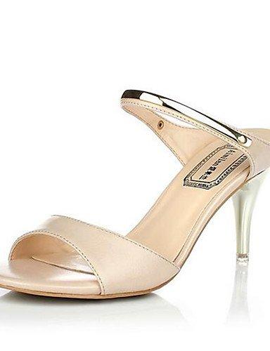 ZQ Zapatos de mujer-Tac¨®n Robusto-Tacones-Tacones-Casual-PU-Negro / Blanco / Almendra , white-us8 / eu39 / uk6 / cn39 , white-us8 / eu39 / uk6 / cn39 black-us8 / eu39 / uk6 / cn39
