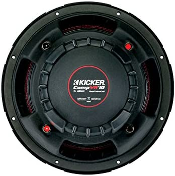 Dual Voice Coil 43CVR104 KICKER CVR104 350W Subwoofer 25cm 4-Ohm CompVR 10-Inch