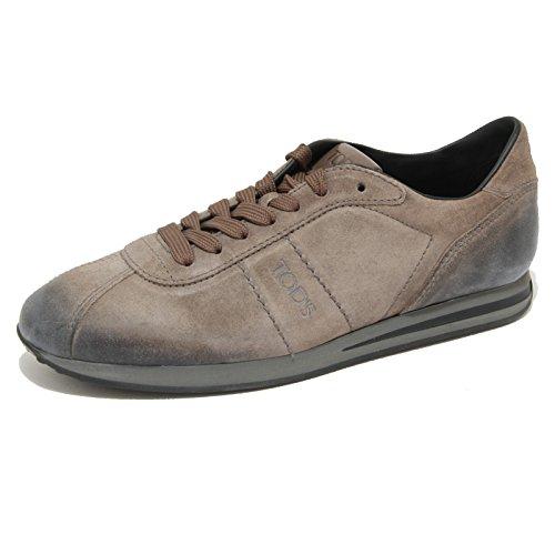1806G sneaker tortora TODS ALLACCIATO SPORTIVO scarpa uomo shoes men Tortora