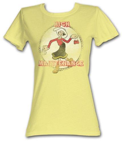 Popeye Juniors T shirt – Olive Oyl High Maintenance Banana Tee Shirt, -